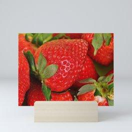Delicious Strawberries Mini Art Print