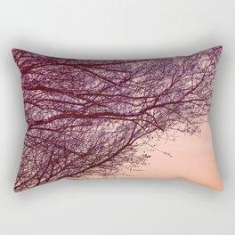 Purple Tree, Coral Orange Sky Rectangular Pillow