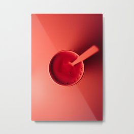 so very red drink - food photography Metal Print