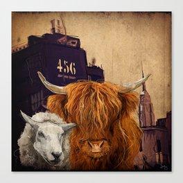 Sheep Cow 123 Canvas Print