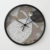 sia Wall Clocks featuring Summer's End by Judith Clay