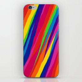 Wonky Rainbow Stripes iPhone Skin