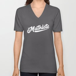Mathlete Math Teacher Mathematician Math Student Design Unisex V-Neck