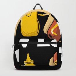 Mustard Paste Hotdog & Ketchup Sausage Backpack