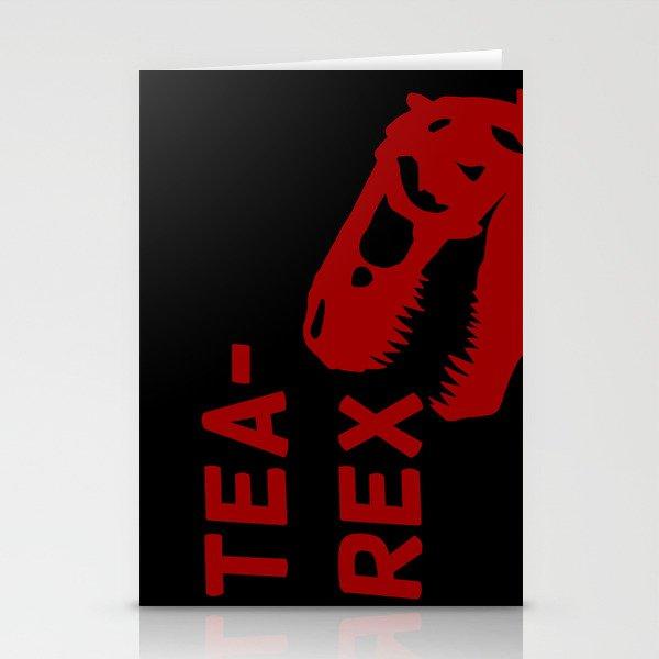 Tea-Rex Stationery Cards