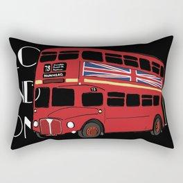 London By Double Decker Bus Rectangular Pillow