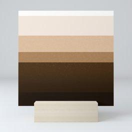 Coffee Layers Graphic Tones Coffee Lovers Mini Art Print