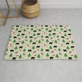 Moose & Bear Pattern Rug