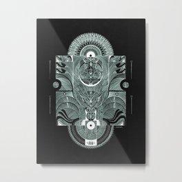 Presence Felt Metal Print