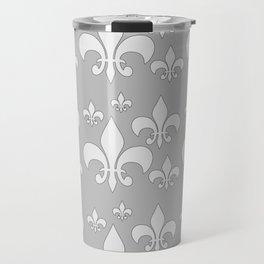 Fleur de lis gray Travel Mug