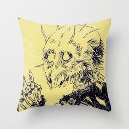 Jawless Demon Throw Pillow