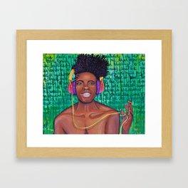 One Track Mind Framed Art Print