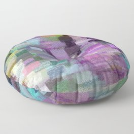 abstract colorful pastel drawing purple blue tones Floor Pillow