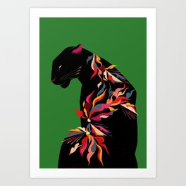 FIERCE FLOWER Art Print