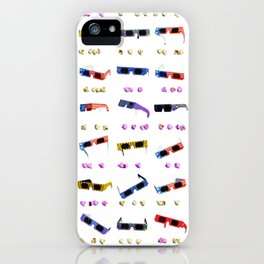 3D Movie Glasses pattern iPhone Case