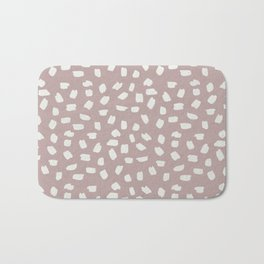 Simply Ink Splotch Lunar Gray on Clay Pink Bath Mat