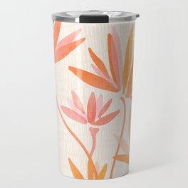 Basking In The Summer Sun / Japanese Botanical Woodblock Travel Mug