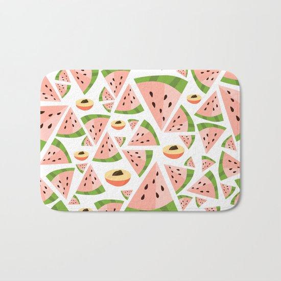 watermelon/peach love Bath Mat