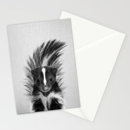 Skunk - Black & White Stationery Cards