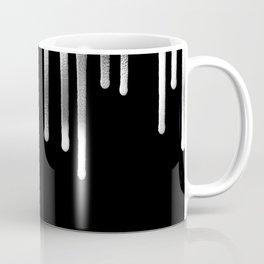 Black Silver Drips Coffee Mug