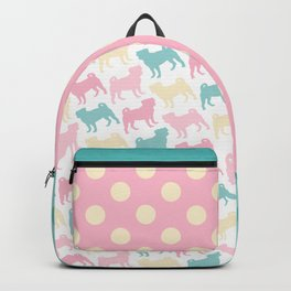 Pastel Pugs Pattern Backpack