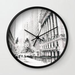 New York City Christmas Wall Clock