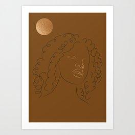 African American woman magic melanin beauty  Art Print