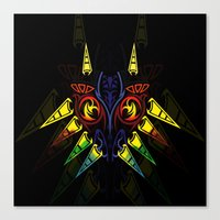 majora Canvas Prints featuring MAJORA MASK majora mask by Veylow