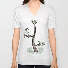 wounds of tree Unisex V-Neck