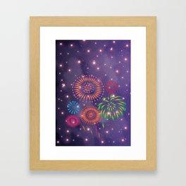 Fireworks in Universe Framed Art Print
