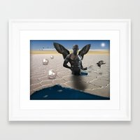 angel Framed Art Prints featuring angel  by mark ashkenazi