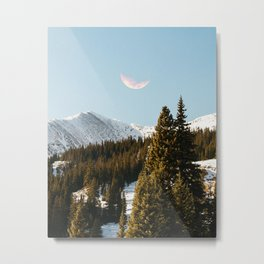 Daylight Moon Metal Print