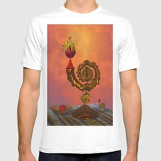 The Wizard's Table MEDIUM White Mens Fitted Tee