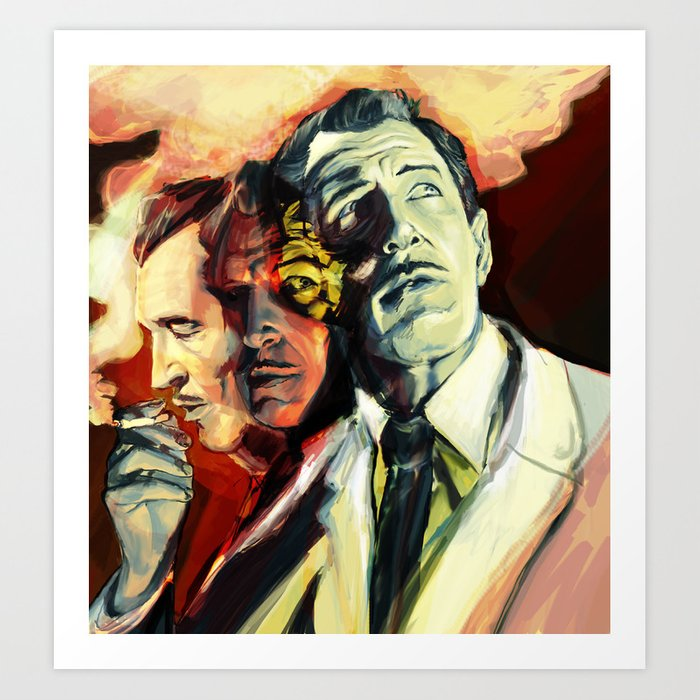 the many faces of vincent price art print by teabot society6