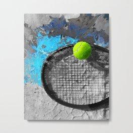 Tennis painting - tennis art print work 23 Metal Print