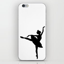Ballerina silhouette (black) iPhone Skin
