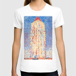Lighthouse in Westkapelle by Piet Mondrian 1909 // Nautical and Costal Theme Colorful Decor T-shirt
