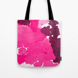Saria - abstract painting pink magenta blush pastel dorm college girly trend canvas art Tote Bag