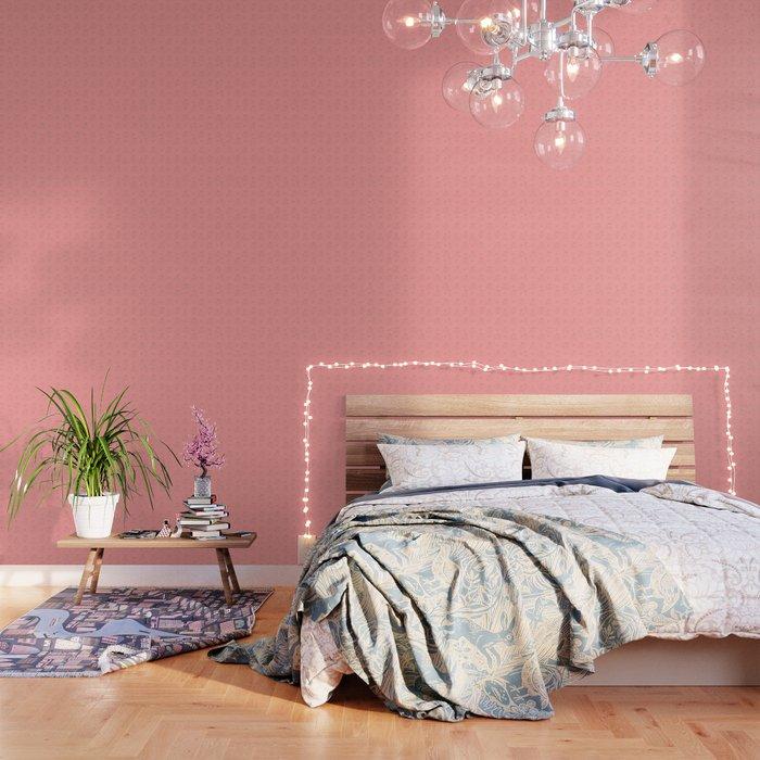 Cherries in Pink Wallpaper