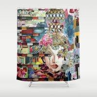 marie antoinette Shower Curtains featuring Marie Antoinette by Katy Hirschfeld