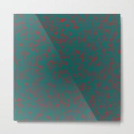 green darkness red spots Metal Print