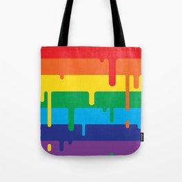 DRIPPY RAINBOW Tote Bag