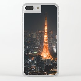 Tokyo tower at night Clear iPhone Case