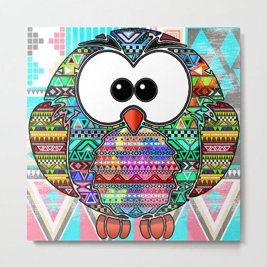 Owl aztec tribal best design  Metal Print