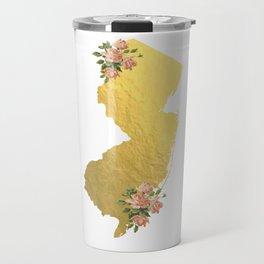 Baesic Gold Foil New Jersey Travel Mug