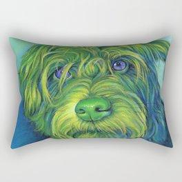Green George Rectangular Pillow
