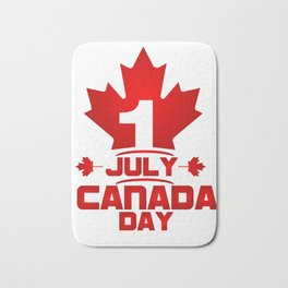 1 July Canada Day Bath Mat