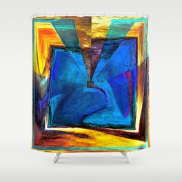 Extroversion Digital Art Abstract Art By Annie Zeno  Shower Curtain