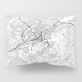 Minimal City Maps - Map Of Knoxville, Tennessee, United States Pillow Sham
