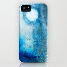 Abstract Landscape Art - Blue Moon - By Sharon Cummings  iPhone (5, 5s) Slim Case